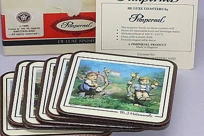 Pimpernel Deluxe Coasters M. J. Hummel in Original Box 1986 Set of 6 England M71