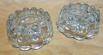 Crystal Candle Stick Holder Lot of 2 Beautiful Heavy Duty Candle Holders