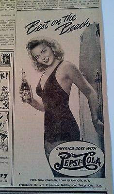 July 13, 1943 Newspaper Page #j5930- Pepsi-Cola- Best On The Beach