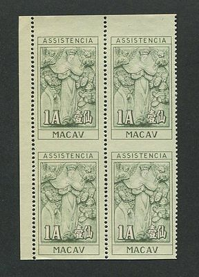 MACAU SURCHARGE 1953 ERROR HORIZONTAL IMPERFORATED !! WAAGER. UNGEZÄHNT !! h0116
