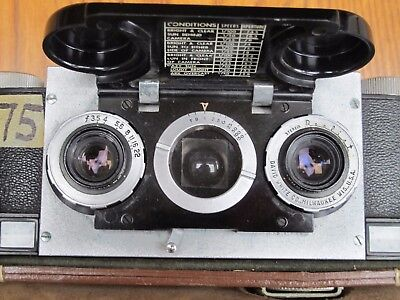 Stereo Realist 35mm Camera by David White w/ leather case