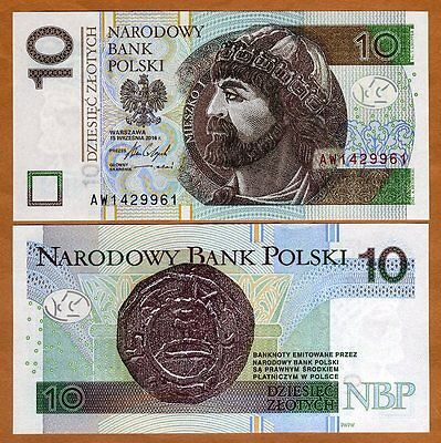 Poland, 10 Zlotych, 2016 (2017), P-183-New, New Sig. UNC