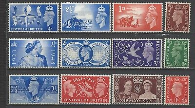 British stamps Kings of old George VI collection of mint commemorative stamps gb