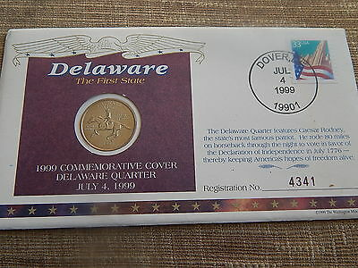 First Day of Issue Delaware State Quarter Coin Cover 1999