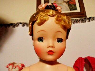 Madame Alexander Vintage, Hard Plastic Cissy Doll In Pink Camellia Outfit