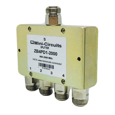 ZB4PD1-2000   Mini-Circuits   Power Splitter/Combiner Wideband 800 to 2000 MHz