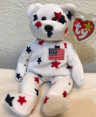 "NEW TY Beanie Baby ""Glory"" The Bear - 1997 - Retired With Errors"