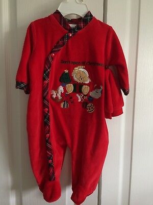 Little Me Christmas Baby Outfit  &  Hat  3 Months