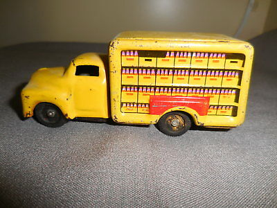 Vintage Tin Litho Japan Coke Cola Friction Toy Truck  Original