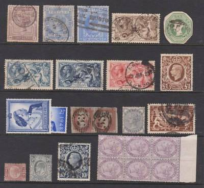 GB, Huge cat selection, Victoria-George VI, Mint & Used. High values also.