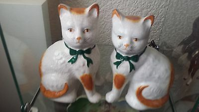 Pair of stunning Victorian Staffordshire Mantel Cats.