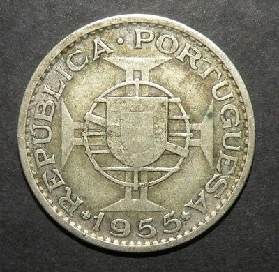 Mozambique Silver Coin Portugal Colonial 20 Escudos Vintage Africa 1955 Lot Port