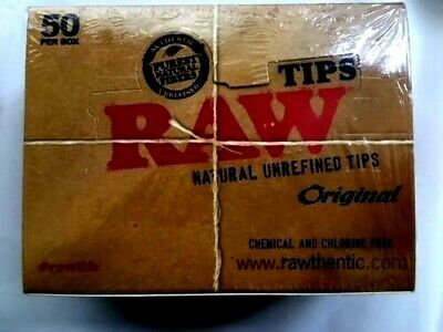 Raw Rolling Paper Natural Filter Tips Chlorine Free Roach Book 1 - 50 Booklets