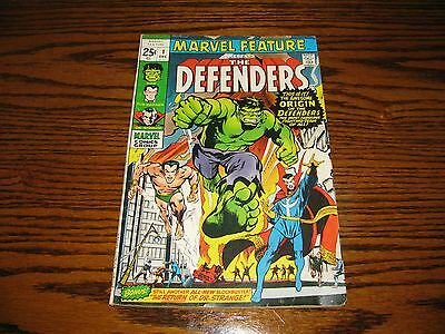 MARVEL FEATURE #1 - 1st Appearance DEFENDERS!!  Glossy VG+  1971