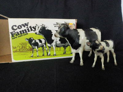 Breyer Animal Creations Cow Fanily Cow And Calf Original Box Mold Stamped  #3447