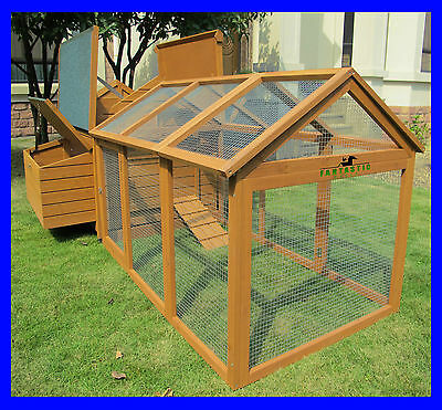 Beaumont Double And Run Large Deluxe Chicken Coop Hen House Rabbit Hutch Nest