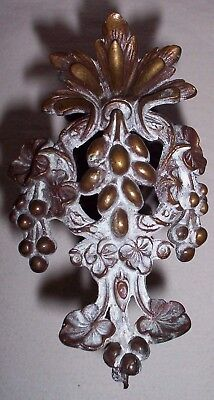 Solid Brass/ Bronze Ornate Antique Victorian Wall Hook Hat Hall Tree Coat Hook