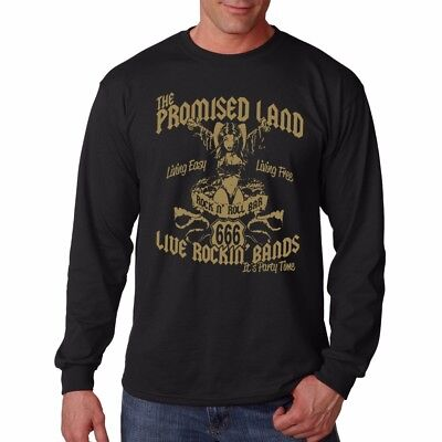 AC DC inspired by Highway to Hell Promised Land black printed tshirt TC9210