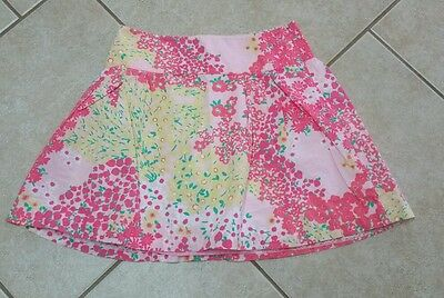 Girl's Lilly Pulitzer Skirt Flowers SZ 14 Pink EUC