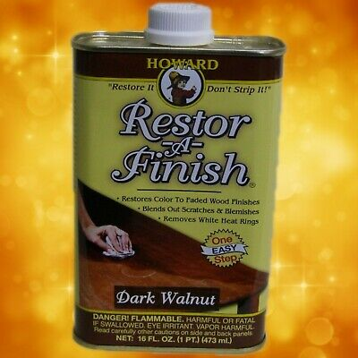 Howard's Restor-A-Finish 16oz. (1 pint) Dark Walnut RF016