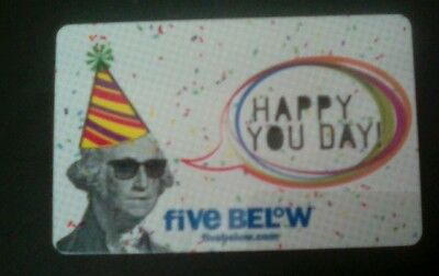 Five Below Gift Card, Happy You Day,  George Washington, Collectible, Mint
