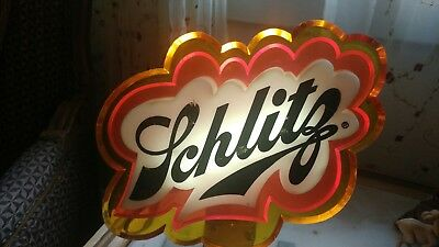 Vintage Schlitz lighted beer sign