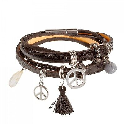 Tamaris Joy Leather Bracelet Armband Accessoire Black Schwarz Neu