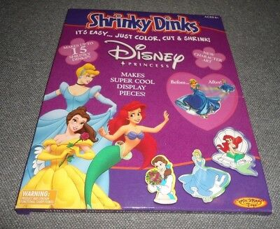 Shrinky Dinks Disney Princess Acivity Kit 6 Colored Pencils Stands Instructions