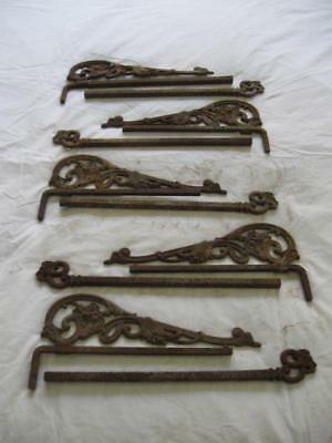 Vintage Lot of 5 Set 1930/40s Swing Arm Curtain Rods