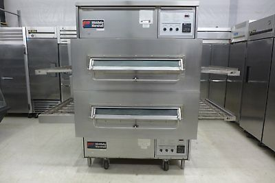 Middleby Marshall PS360WB Double Stack Gas Wide Belt Conveyor Pizza Oven Lincoln