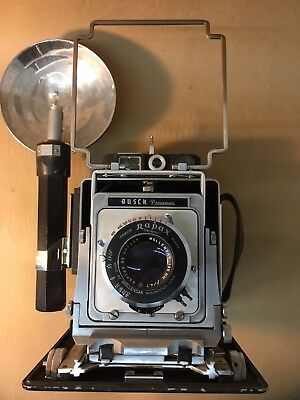 Busch Pressman Model D 4x5 Camera w/Flash Wollensak Raptar 4.7/135mm Lens