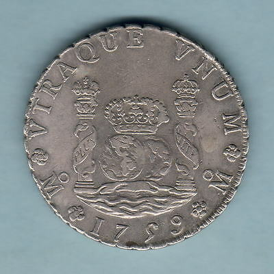 Mexico. 1759-Mo 8 Reales - Pillar Dollar..  VF+ - Part Lustre