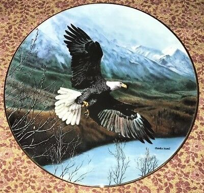 """Fine China Collector Plate """"FREEDOM"""" Soaring Majesty"""