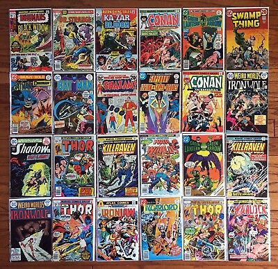 24 Comics 1970-77 15-to-35-Cent Covers! Batman and 16 More Titles! Avg. FN+ 6.5