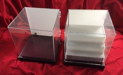 New clear Lucite display cases [7], locking, plus security cable. Removable tray