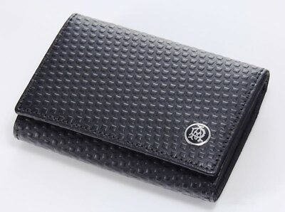 NEW- DUNHILL L2V380 Micro D-Eight Leather Card Case Wallet France ferragamo $350