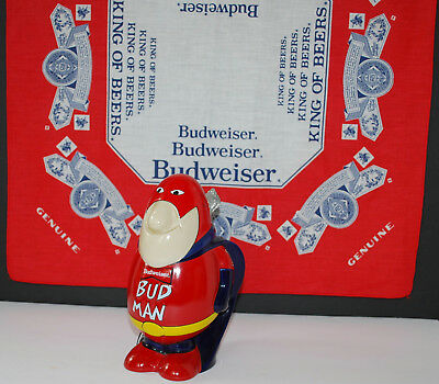 Bud Man Stein Made In Brazil With Budweiser Bandana From 1970's