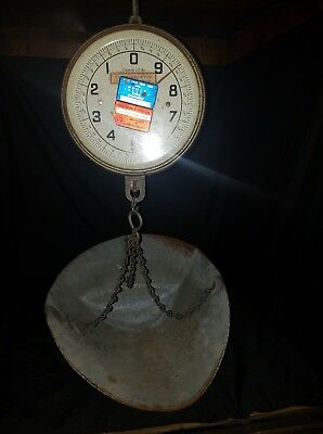 Vintage Penn Scale Mfg.co. Inc. Series 820 20 Lb Produce Scale With Basket