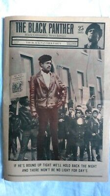VINTAGE Black Panther Party Newspaper Apr 11 1970
