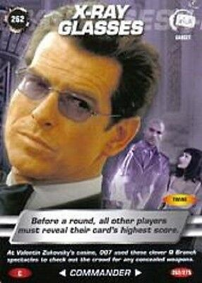 James Bond 007 Spy Card X-RAY GLASSES Trading Card # 262 COMMON  Pierce Brosnan