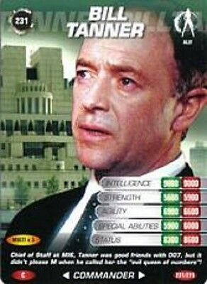 James Bond 007 Spy Card BILL TANNER Trading Card  Number 231 COMMON CARD