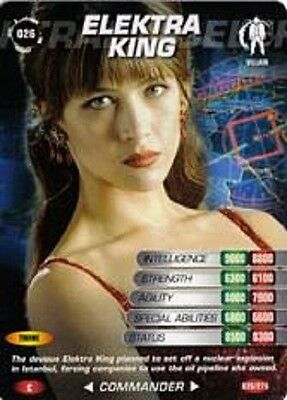 James Bond 007 Spy Cards ELEKTRA KING Trading Card # 26 COMMON Sophie Marceau