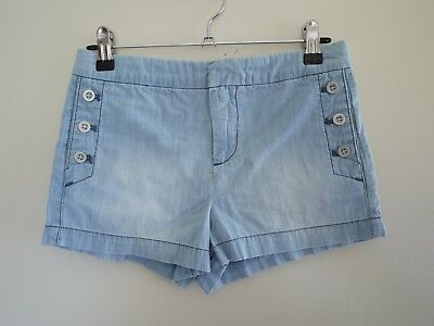 WITCHERY Girls Light Denim Shorts Size 12 in VGC