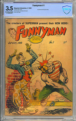 Funnyman #1 Siegel & Shuster Art Golden Age First Issue ME Comic 1948 CBCS 3.5