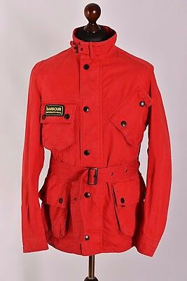 Men's Barbour Washed Twill International Jacket Size S Genuine Casual