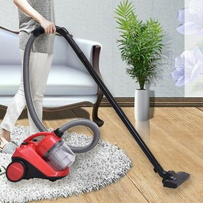 2L 1200W Bagless Cord Rewind Canister Vacuum Room Cleaner w/Washable Filter 3.5M