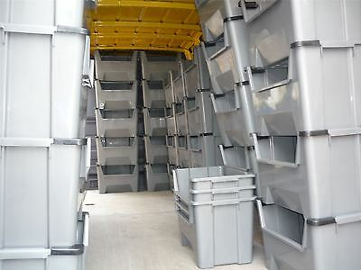 EXTRA Large Plastic Van Shelving Storage Bins Boxes stackable space bin X 10 & LARGE PLASTIC VAN Shelving Storage Bins Boxes stackable space bin X ...