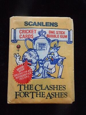 1986 Scanlens Cricket Clashes For The Ashes Sealed Pack Packet....rare!!