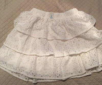 Girls Skirt White Lace Layered/Childrens Place/size S 5/6 NWT