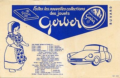 Buvard / Publicitaire / Fromage Gerber / Voiture / Car